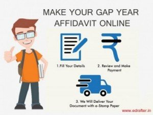 How to create Gap year Affidavit Online- eDrafter in