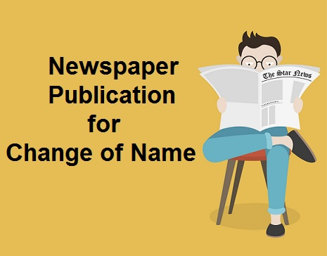 newspaper publication for change of name