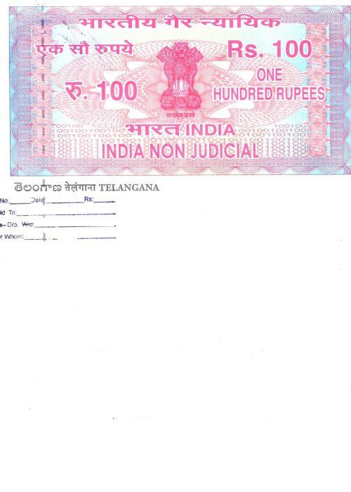 Telangana Stamp paper